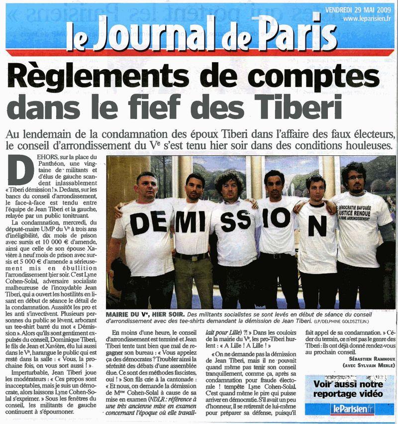 Le Parisien 29 05 09