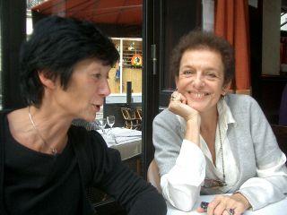 Jacqueline Amiel-Donat avec Lyne Cohen-Solal