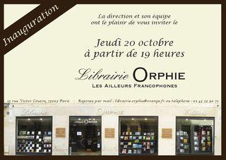Librairie Orphie