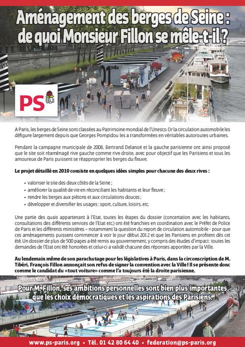 François Fillon maltraite les Parisiens